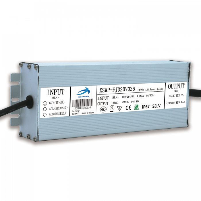 320W waterproof IP67 constant voltage